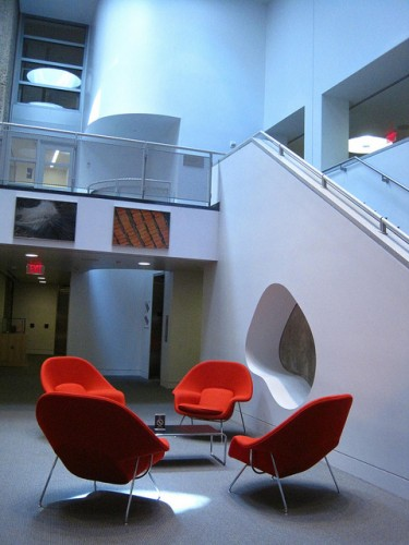 Atrium of Haas Arts Library