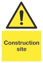 Construction site sign