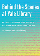 Behind the scenes at Yale Library graphic