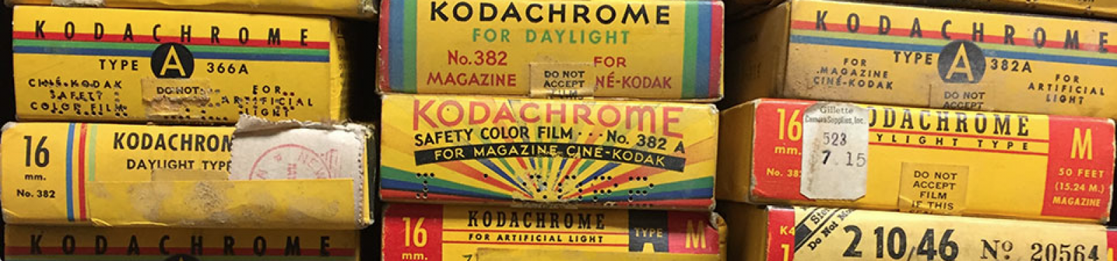 stack of Kodachrome film boxes