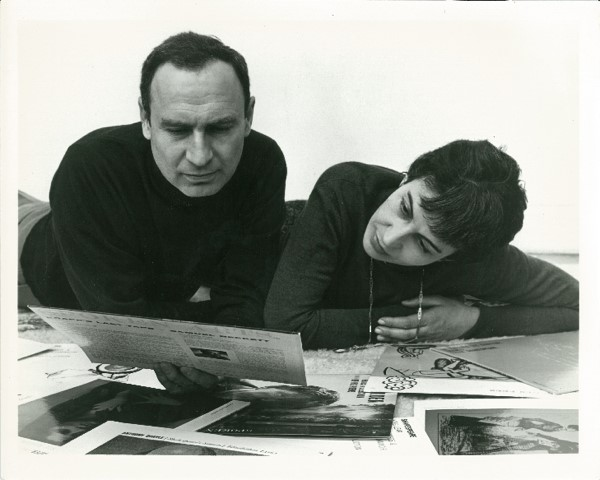 Dr. Arthur Luce Klein and Luce Arthur Klein, March 9fh, 1961, founders of Spoken Arts, Inc. a pioneering literary recording company.   Photo by Philippe Halsman used with permission of Irène Halsman