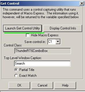 Get Control Window