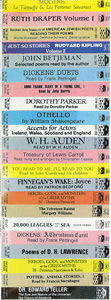 Various titles (cassettes) from Spoken Arts Collection
