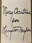 Langston Hughes wishing Merry Christmas