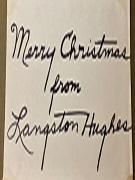 Langston Hughes wishing Merry Christmas