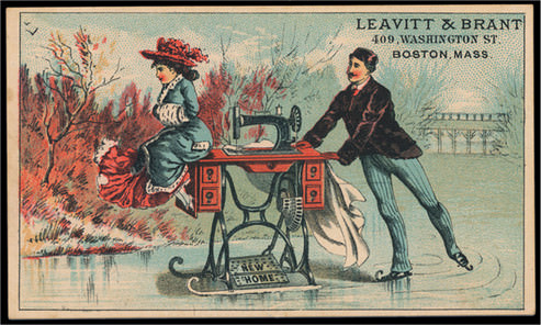 19th-century trade card, Leavitt & Brant (Berg Fashion Library)
