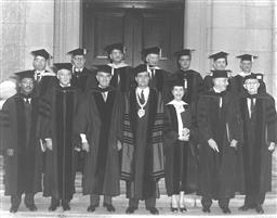 Honorary Degree recipients at Yale, 1959, including Rev. Dr. Martin Luther King