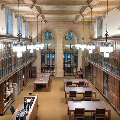 Manuscripts and Archive reading room looking toward Gates Classroom