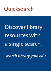 discover library resources with a single search: search.library.yale.edu