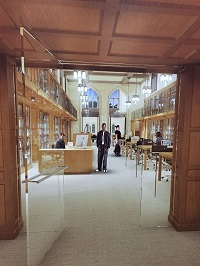 Architect's rendition of the renovated Manuscripts and Archives reading room