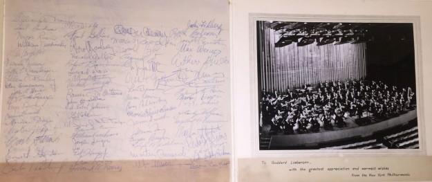 Signaures of New York Philharmonic