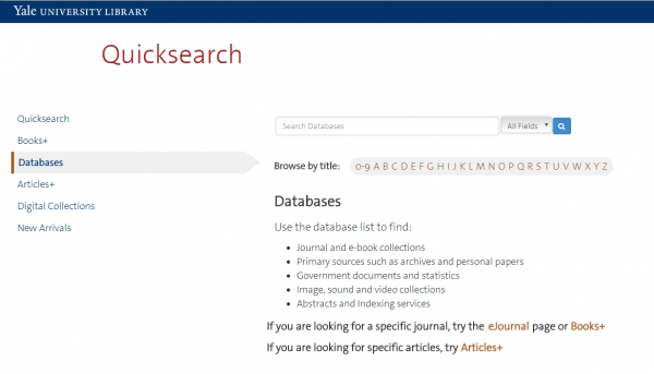 Searching Databases with Quicksearch