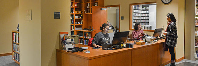 Music Library Circulation Desk. Photographer: Mike Marsland