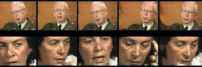 Screenshots from Fortunoff Video Archive testimonies