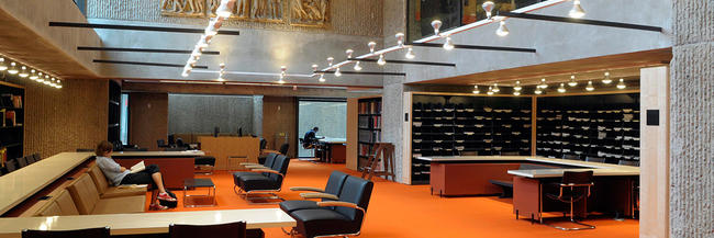 The Periodicals Reading Room at the Haas Arts Library
