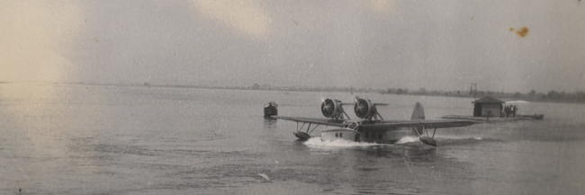 Floatplane on the Min River facing the Fukien Christian University