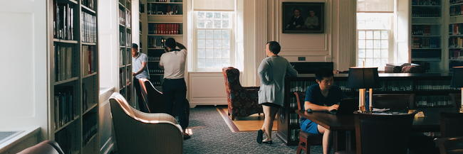 Students in the Trowbridge Reading Room