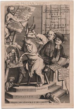 Satirical cartoon from the Lewis Walpole Collection
