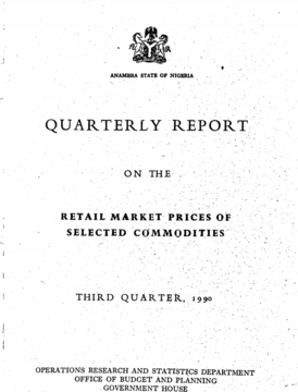 Cover page of Nigerian commodity report