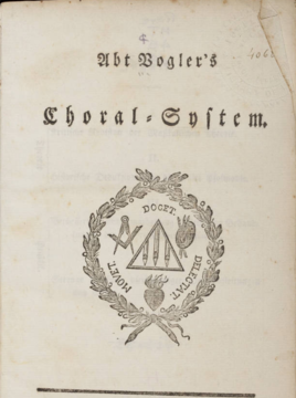Title page from Choral System