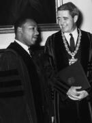 Dr. King in regalia with President Bewster