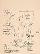 hand drawn map of British invasion of New Haven