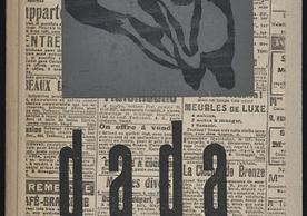 Cover of Anthologie dada / parait sous la direction de Tristan Tzara