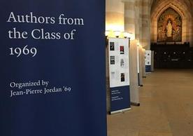 Authors from the Class of 1969 exhibit poster in the nave