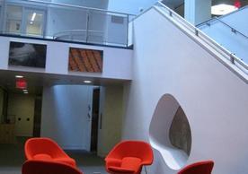 Atrium of Haas Arts Library