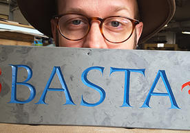 Jesse Marsolais, Proprietor, Marsolais Press & Lettercarving