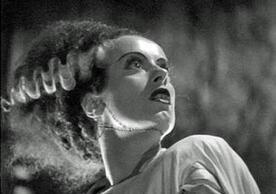 Close-up of actress Elsa Lanchester in Bride of Frankenstein.