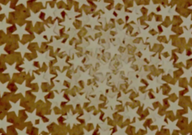 still from the film IMPASSE showing a circle made of star-shaped stickers