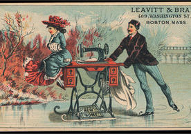 19th-century trade card, Leavitt & Brant (Berg Fashion Library)