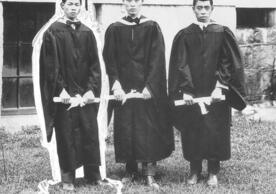 First class of Lingnan University graduates