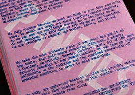 Panty Pulping Manifesto by Margaret Mahan and Drew Mattot