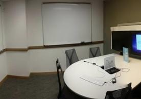 Group study room table and mediascape display
