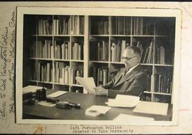 Photo of Rollins from Carl Purington Rollins Papers, Robert B. Haas Family Arts Library