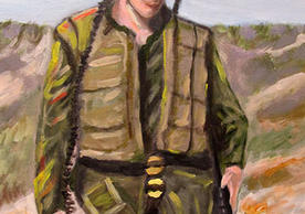 """Soldier –(oil on canvas)- approx.. 24""""x36"""""""