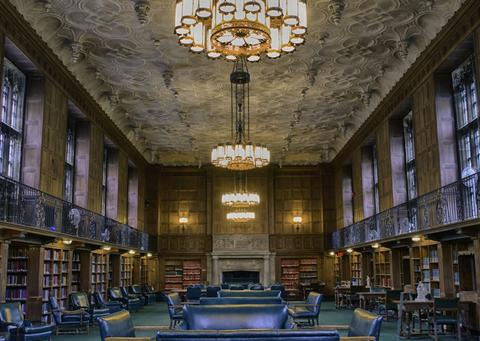 linonia and brothers reading room yale university library