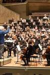 Photograph of the Berliner Philharmoniker, Simon Rattle conducting