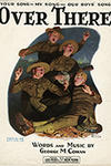 Vintage sheet music covers from World War 1 George M. Cohan's Over There