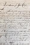 Petition regarding Commons, page 1, circa 1800-1801, Bates Family Papers (MS 65), Box 1, folder 5