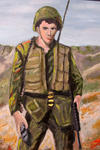 "Soldier –(oil on canvas)- approx.. 24""x36"""