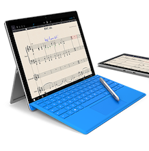 microsoft surface music notation